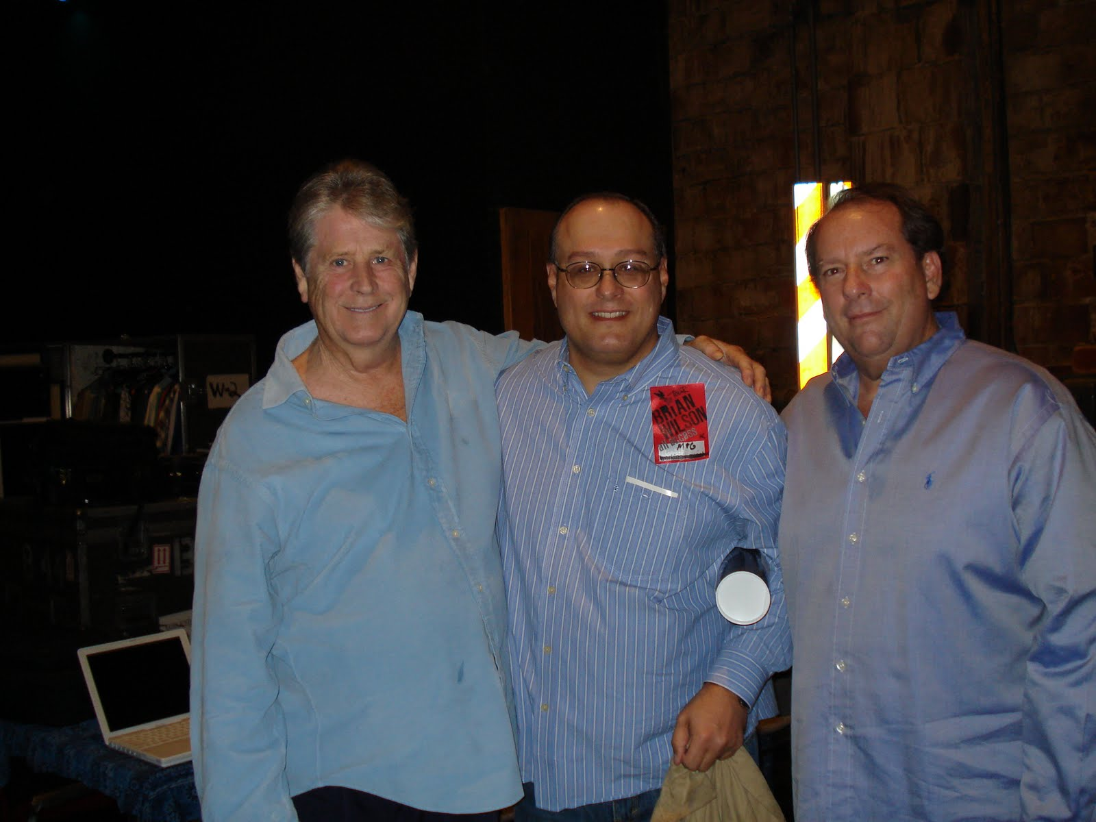 The outta leftfield weblog meeting brian wilson backstage as brian wilson might say maybe if we think and wish and hope and pray it might come true and it did i got to meet brian wilson last week before his kristyandbryce Choice Image